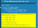 two dimensional arrays1