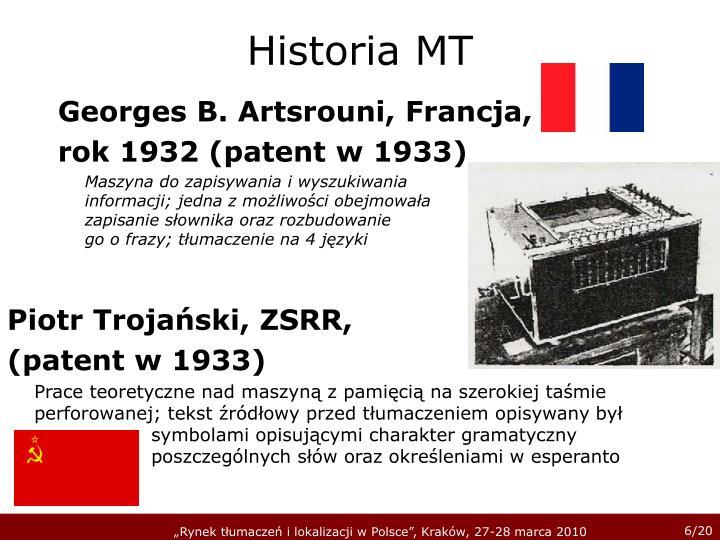 Historia MT