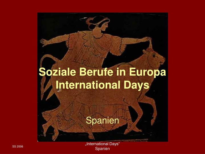 Soziale berufe in europa international days