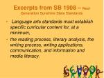 excerpts from sb 1908 next generation sunshine state standards