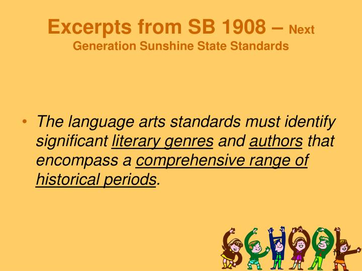 Excerpts from SB 1908 –