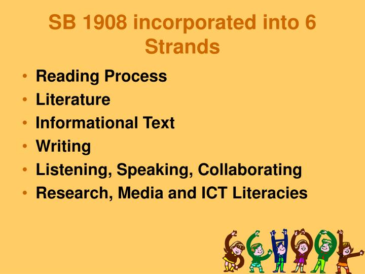 SB 1908 incorporated into 6 Strands