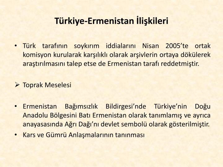 Türkiye-Ermenistan İlişkileri