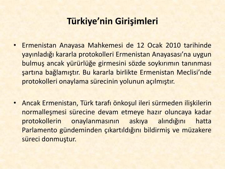 Türkiye'nin Girişimleri