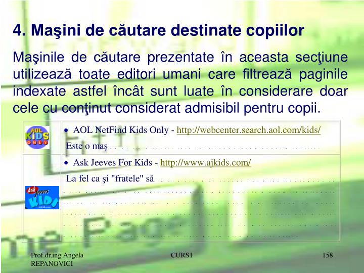 4. Maini de cutare destinate copiilor