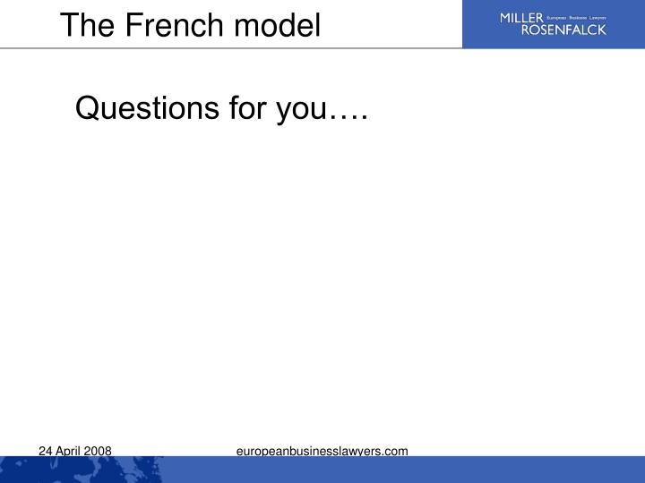 The French model