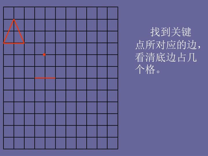 找到关键点所对应的边,看清底边占几个格。