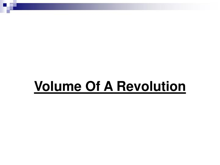 Volume Of A Revolution