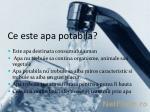 ce este apa potabila