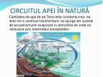 circuitul apei n natur