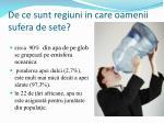 de ce sunt regiuni in care oamenii sufera de sete