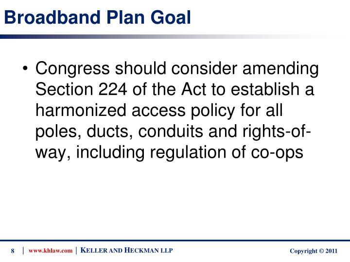 Broadband Plan Goal