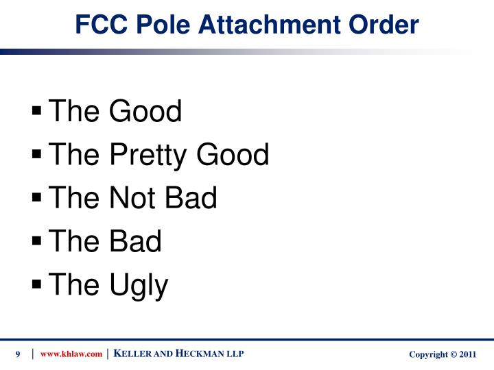 FCC Pole Attachment Order