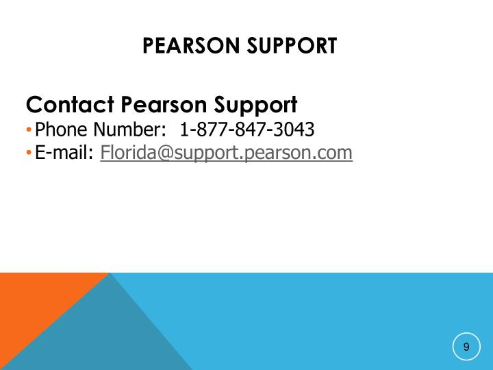 Pearson Support