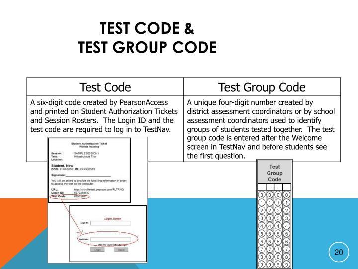 Test Code &