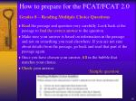how to prepare for the fcat fcat 2 011
