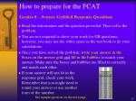 how to prepare for the fcat3