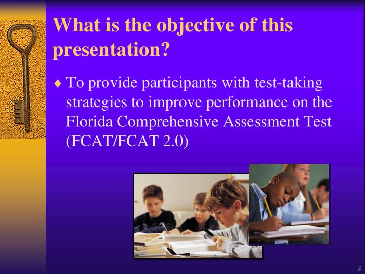 What is the objective of this presentation?