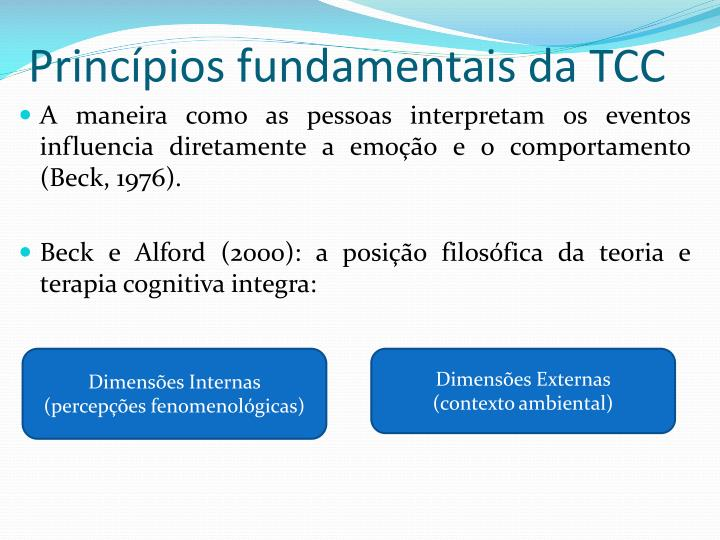 Princ pios fundamentais da tcc