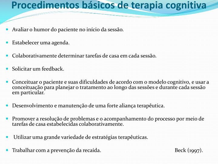 Procedimentos básicos de terapia cognitiva