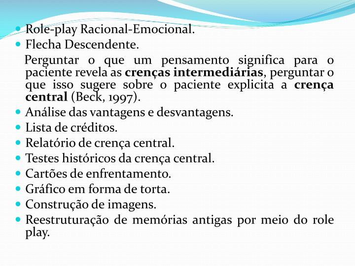 Role-play Racional-Emocional.