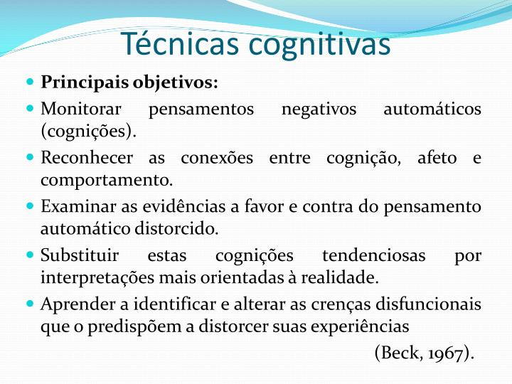 Técnicas cognitivas