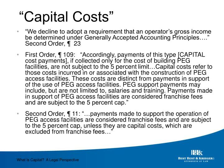 """Capital Costs"""
