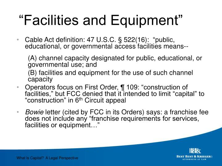 """Facilities and Equipment"""
