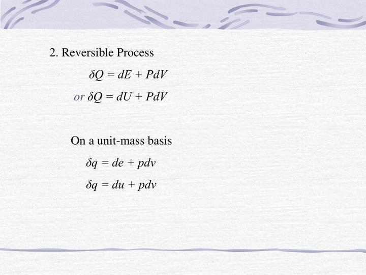 2. Reversible Process
