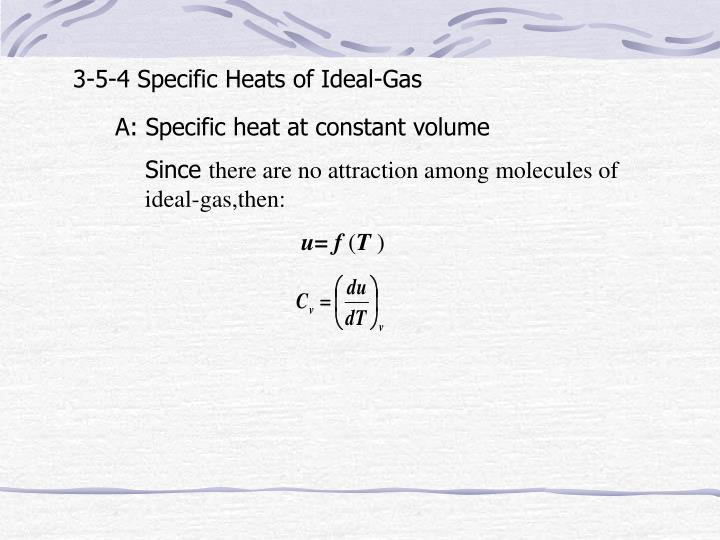 3-5-4 Specific Heats of Ideal-Gas