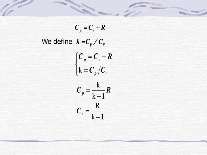 We define