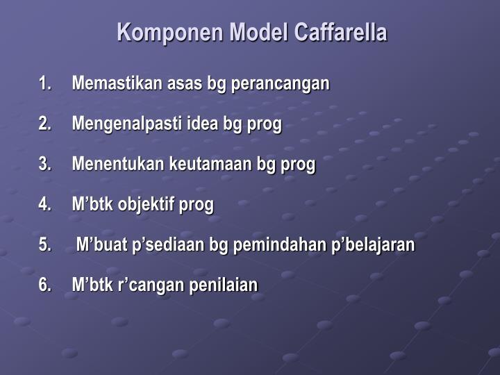 Komponen Model Caffarella