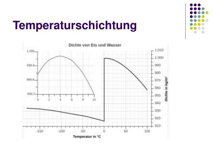 Temperaturschichtung