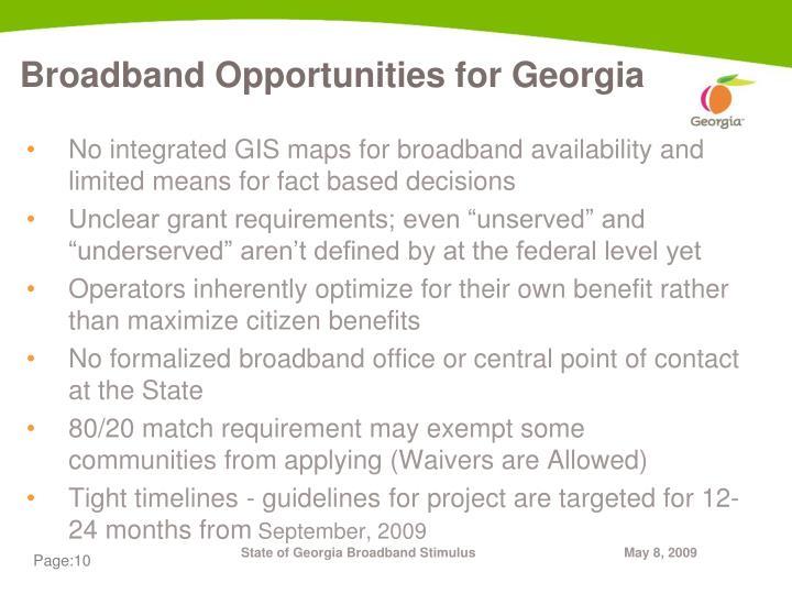 Broadband Opportunities for Georgia
