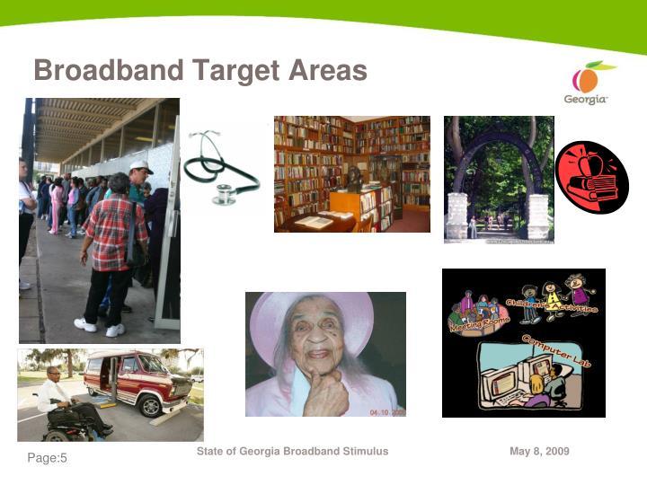 Broadband Target Areas