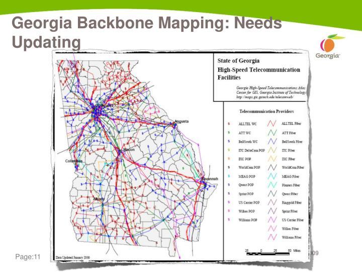Georgia Backbone Mapping: Needs Updating