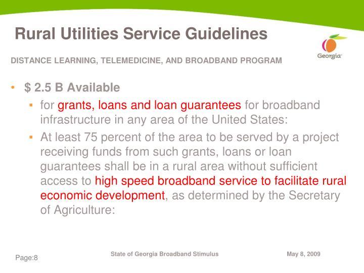 Rural Utilities Service Guidelines