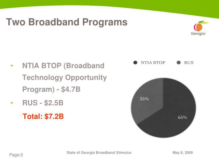 Two Broadband Programs