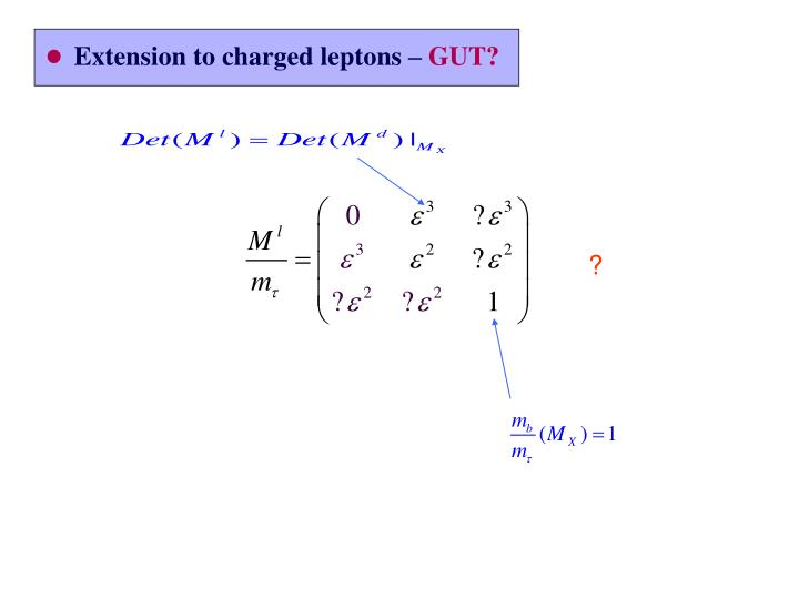 Extension to charged leptons –