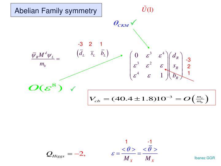 Abelian Family symmetry