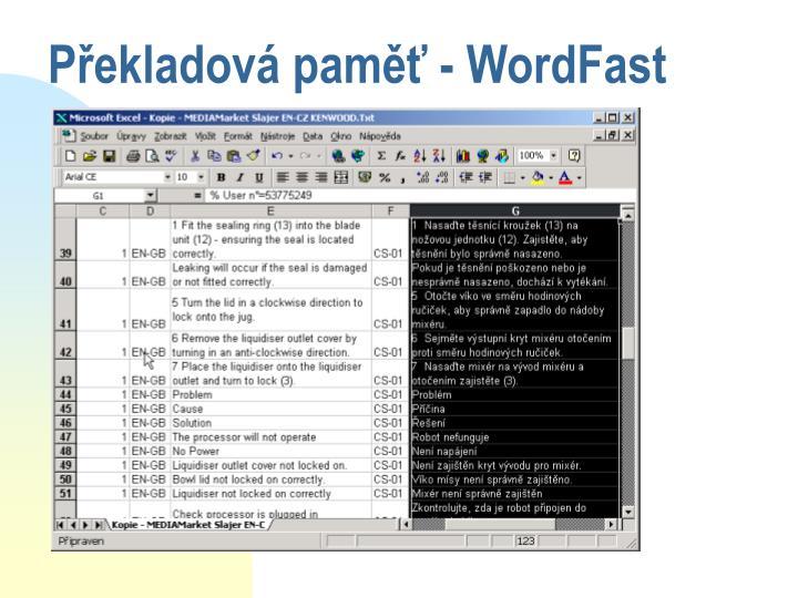 Překladová paměť - WordFast