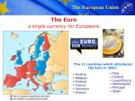 the euro a single currency for europeans