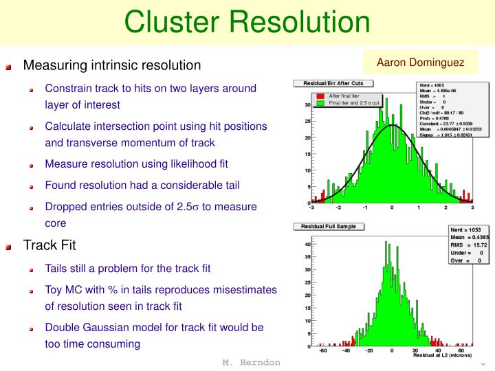 Cluster Resolution