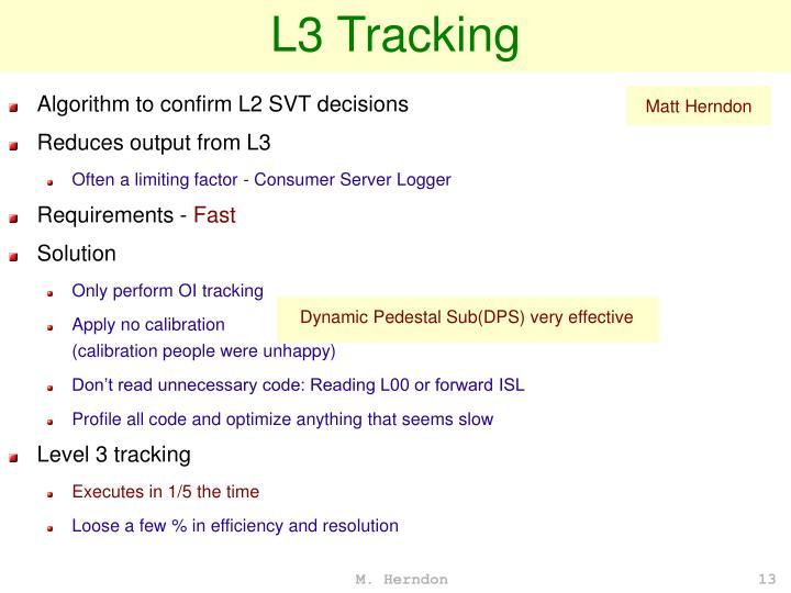 L3 Tracking