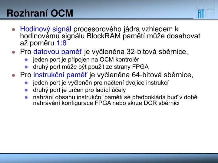 Rozhraní OCM