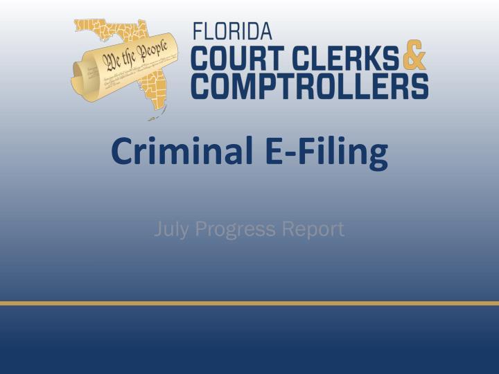 Criminal E-Filing