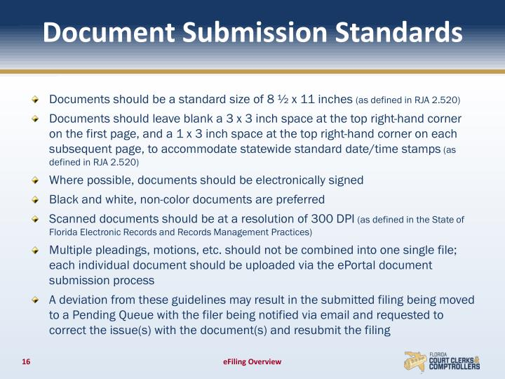 Document Submission Standards