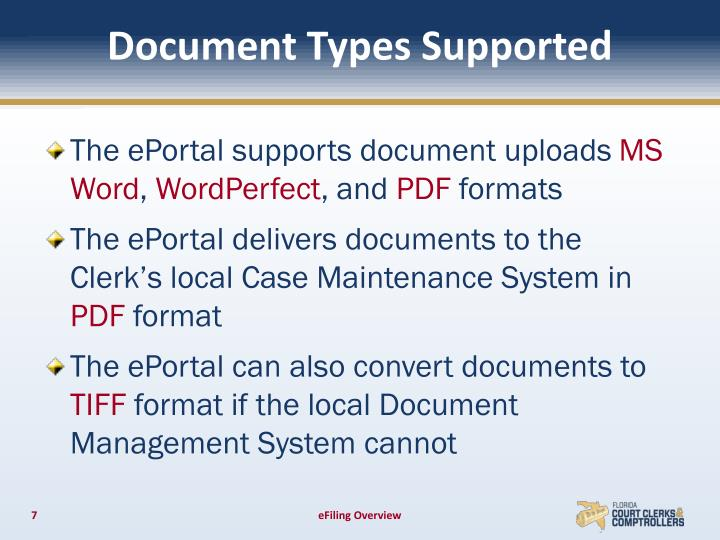 Document Types Supported