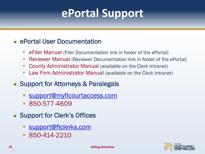 ePortal Support