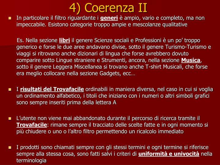4) Coerenza II